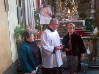 Danuta Wałęsa w kościele