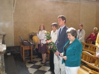 Przywitanie Oblatów w parafii